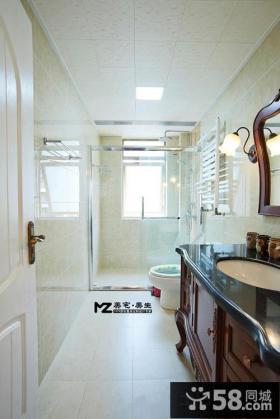 时尚美式家装风格卫生间效果图