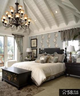 欧式别墅卧室吊顶装修效果图大全