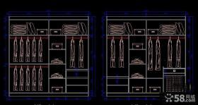 整体衣柜设计图欣赏