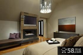 40万打造奢华欧式风格卧室电视背景墙装修效果图大全2013图片