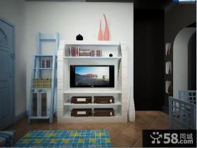 田园风格客厅电视背景墙装修效果图大全2013图片