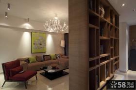 客厅书架隔断设计