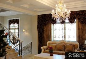 欧式别墅客厅水晶吊灯图