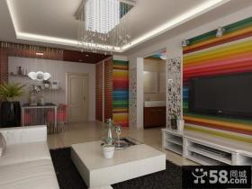 现代简约客厅电视背景墙装修设计效果图片