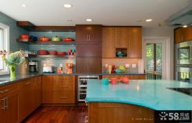 半开放式厨房整体厨柜效果图