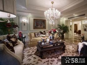远洋万和城三居室美式风格客厅装修样板间