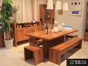 宜家餐厅实木餐桌设计装修