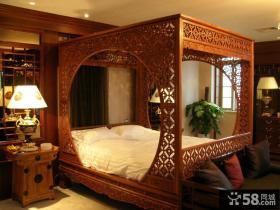 豪华古典中式架子床卧室装修