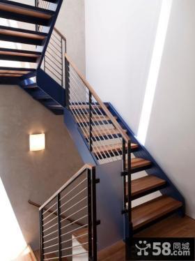 家庭室内楼梯扶手图片