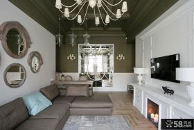 现代风格家装客厅电视背景墙效果图欣赏