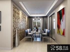 三室两厅家庭餐厅背景墙修效果图大全2012图片