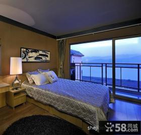 优质卧室带阳台装修效果图