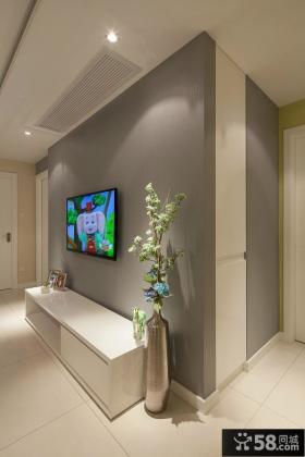 简约风格客厅电视背景墙效果图片大全