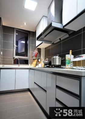 现代风格L型厨房装修图片大全