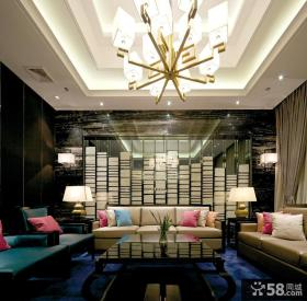 中式新古典风格130平米三居装修效果图大全