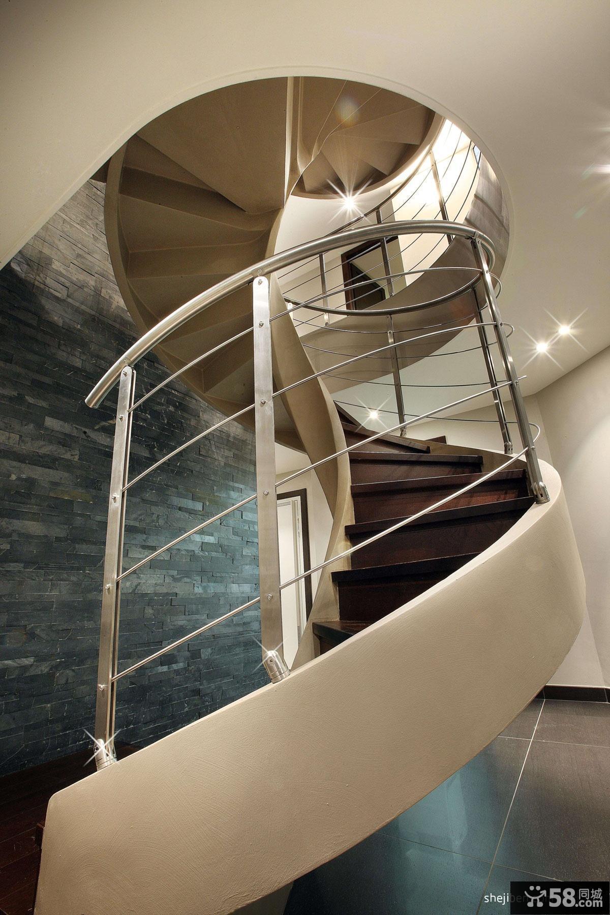 别墅旋转楼梯装修效果图大全2013图片