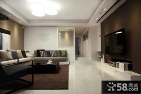 现代简约设计时尚客厅电视背景墙图片欣赏