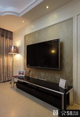 现代壁纸电视背景墙装修效果图大全图