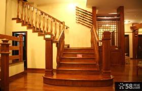 别墅实木楼梯图片大全