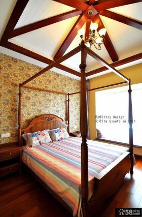 复式楼主卧室吊顶装修效果图