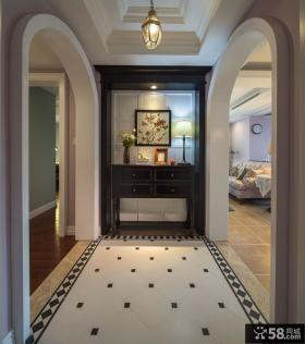 经典美式风格室内垭口装饰图片