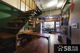 美式loft风格楼梯装修效果图