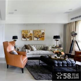 美式120平米三室两厅效果图大全欣赏