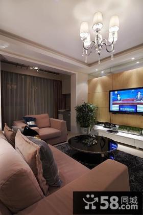 美式装修设计客厅电视背景墙图片