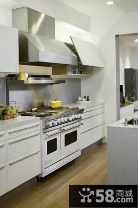 现代时尚复式楼厨房装修效果图大全2012图片