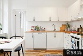 开放式厨房圆方橱柜设计效果图