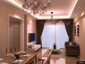 现代简约别墅客厅电视背景墙设计
