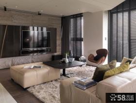 后现代风格客厅效果图大全