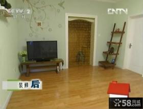 交换空间田园风格小户型电视背景墙装修效果图