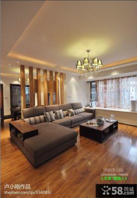 简约风格复式楼客厅吊顶效果图