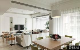 美式家居设计客餐厅效果图
