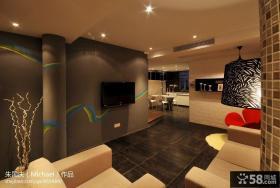 客厅手绘电视背景墙装修设计图