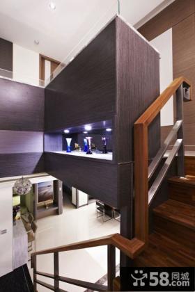 简约复式家居楼梯装饰效果图
