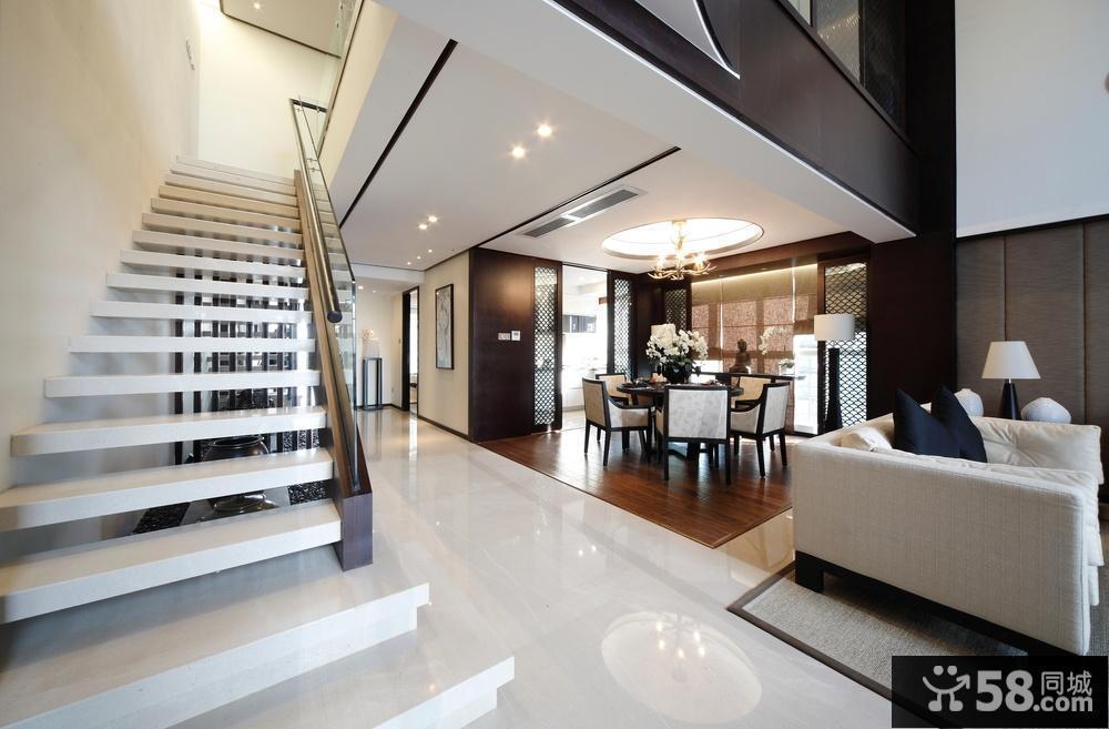 别墅客厅楼梯设计