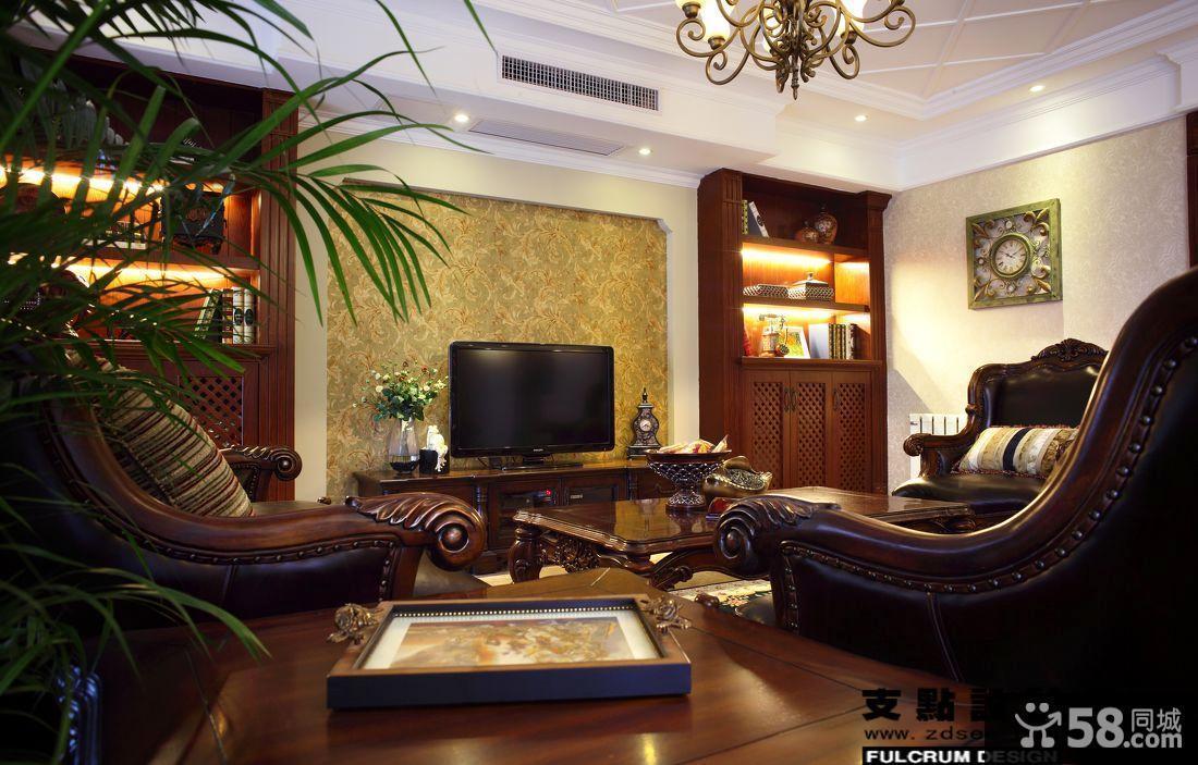 复式客厅电视机背景墙装修效果图大全