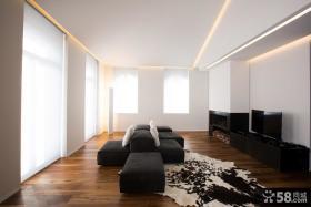 简约创意风格客厅电视背景墙设计效果图