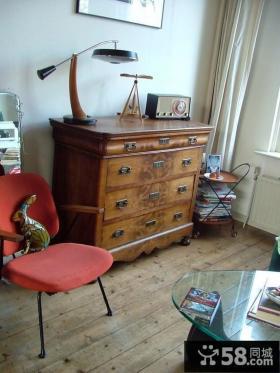 客厅一角装修效果图 收纳柜装饰效果图