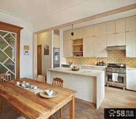 现代简约厨房整体橱柜装修效果图