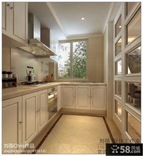 简欧小厨房设计效果图图片