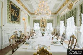 欧式别墅大餐厅装修图片欣赏
