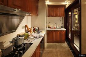 美式乡村风格厨房装修效果图片大全