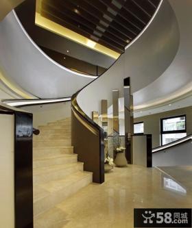 现代风格别墅楼梯间设计