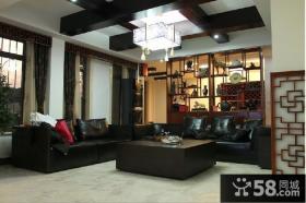 现代中式客厅吊顶效果图大全