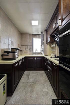 美式装修设计厨房橱柜效果图