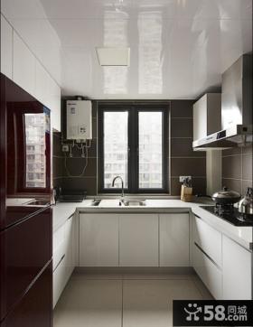 现代简约风格110平米二居整体厨房装修效果图