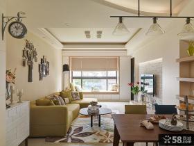 美式田园风格家居客厅装修